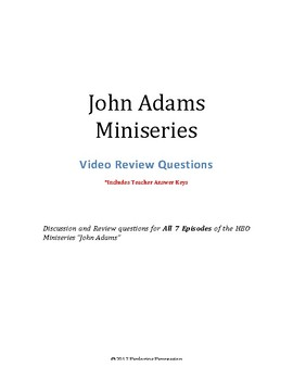 John Adams Miniseries Video Review Questions