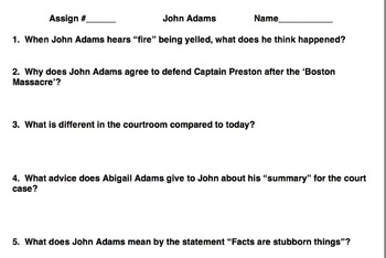 "John Adams - Part 1 - Boston Massacre ""Join or Die"""