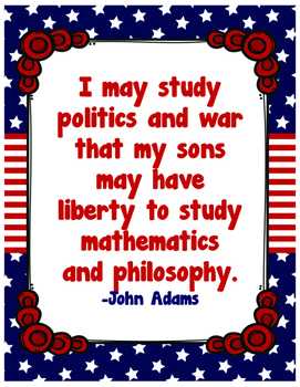 John Adams Quotes Poster Set/Founding Fathers
