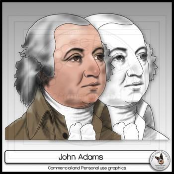 John Adams Realistic Clip Art Portrait
