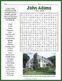 John Adams Word Search Worksheet