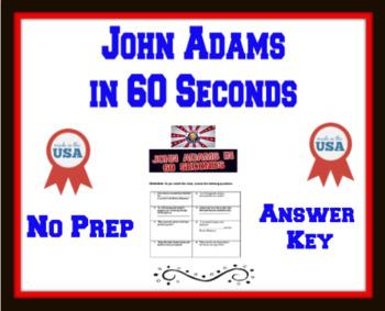 John Adams in 60 Seconds