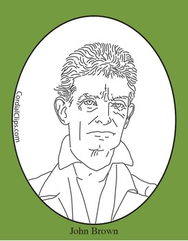 John Brown Clip Art, Coloring Page or Mini Poster by Cordial Clips