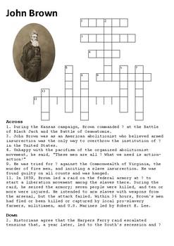 John Brown Crossword