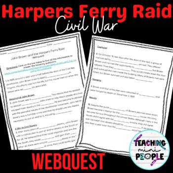 John Brown Harpers Raid Internet Scavenger Hunt - Civil War