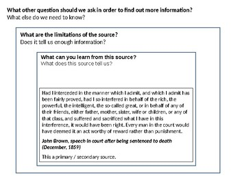 John Brown Source Analysis Activity