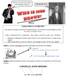John Brown Wanted Poster or Award Plaque