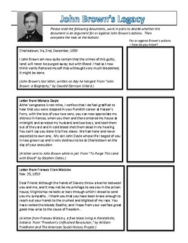 John Brown Worksheet and Primary Documents