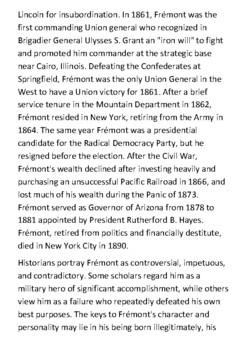 John C. Frémont Handout