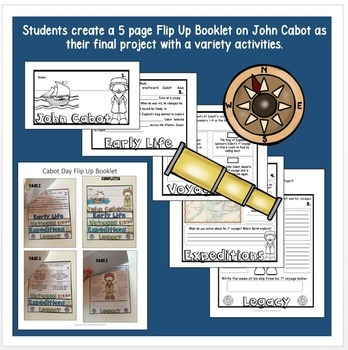 Early Explorers: John Cabot Unit with Articles, Activities, & Flip Book