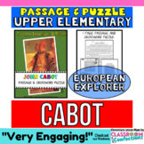 John Cabot Biography Passage and Crossword Puzzle