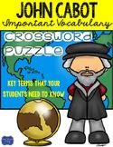 John Cabot Crossword