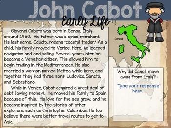 John Cabot: Interactive PowerPoint