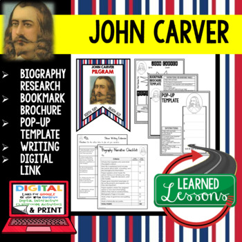 John Carver Biography Research, Bookmark Brochure, Pop-Up, Writing, Google