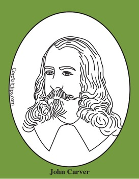 John Carver Clip Art, Coloring Page or Mini Poster