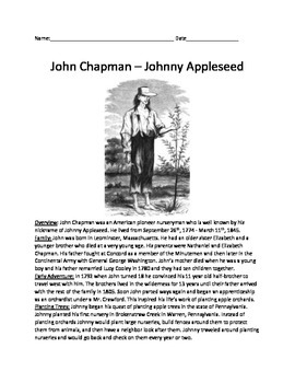 John Chapman - Johnny Appleseed - True Story life story questions facts history