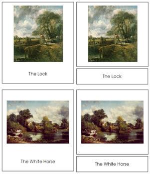 Constable (John) 3-Part Art Cards