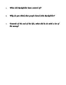 John D Rockefeller Bio and 7 questions