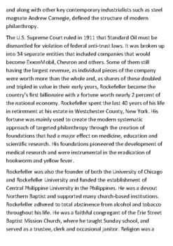 John D Rockefeller Handout