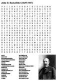 John D. Rockefeller Word Search