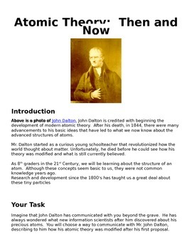John Dalton's Atomic Theory:  Then and Now!!!