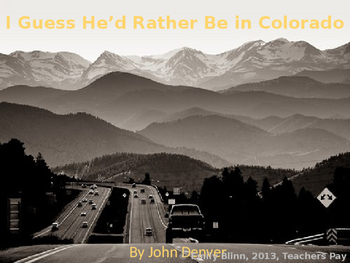 "John Denver's ""I Guess He'd Rather Be in Colorado"" Sing-a-Long"