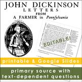 John Dickinson, Letters from a Farmer in Pennsylvania
