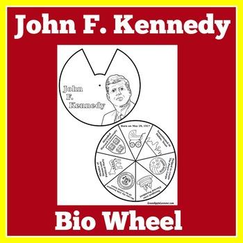 John F. Kennedy | President Kennedy Biography Wheel Craft
