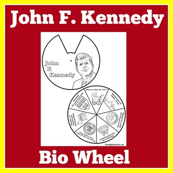 John F. Kennedy | President Kennedy Biography Wheel Craft