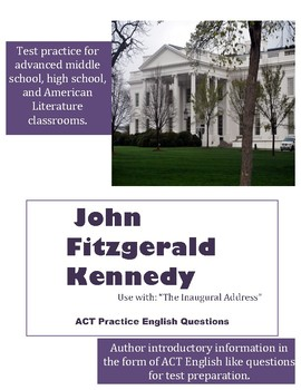 John F. Kennedy ACT English Practice Questions