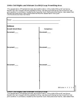 John F. Kennedy Assassination Document-Based Questions and Open-Ended Response