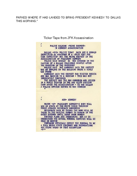 John F. Kennedy Assassination Primary Source