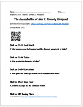 John F. Kennedy Assassination Webquest (Great Website)