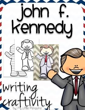 "John F. Kennedy ""Craftivity"" Writing page (President J.F.K.)"