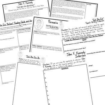 John F. Kennedy Ich Bin Ein Berliner Speech Analysis & Writing Activity, Google