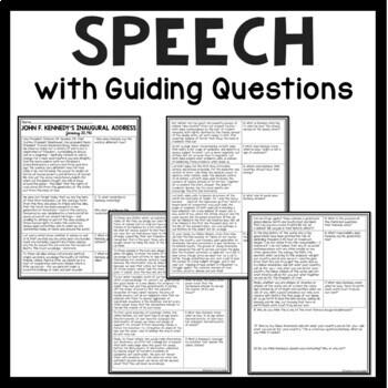 John F. Kennedy Inaugural Address Analysis Worksheet, Speeches