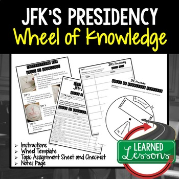 John F. Kennedy Presidency Activity, Wheel of Knowledge (Interactive Notebook)
