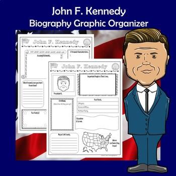 John F. Kennedy President Biography Research Graphic Organizer
