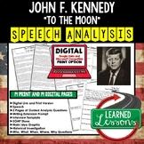 John F. Kennedy To The Moon Speech Analysis and Writing Activity, Google