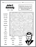 John F. Kennedy Word Search Puzzle
