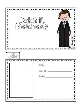 John F. Kennedy Writing Tab Book