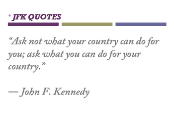 John F. Kennedy quotes (posters)