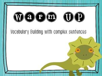 John FLeming Warm Up - Vocabulary and Complex Sentences