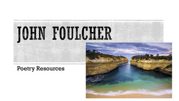 John Foulcher Poetry Resources
