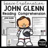 John Glenn Biography  Reading Comprehension Worksheet; Space, Astronaut, NASA