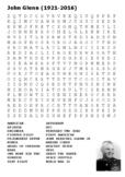 John Glenn US Astronaut Word Search