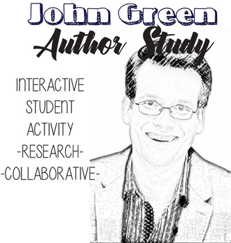 John Green Author Study, Fault In Our Stars Novel Unit, John Green Biography