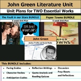 John Green Literature Unit - Fault in our Stars and Paper Towns