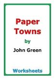"John Green ""Paper Towns"" worksheets"