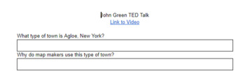 John Green TED Talk Comprehension Questions - Author of Fault in Our Stars